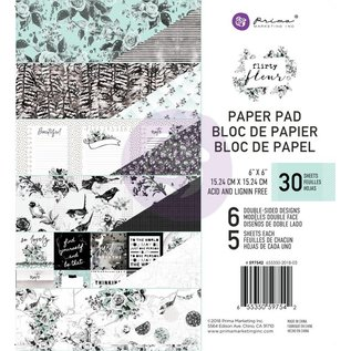 PRIMA MARKETING Flirty Fleur 6x6 Inch Paper Pad