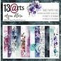 13 Arts Aqua Flora,  6x6, 24 sheets, 12 designs, enkel bedrukt