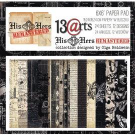 13 Arts His & Hers Remastered,  6x6, 24 sheets, 12 designs, enkel bedrukt