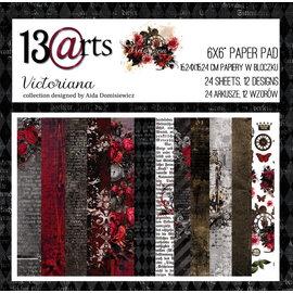 13 Arts Victoriana,  6x6, 24 sheets, 12 designs, enkel bedrukt