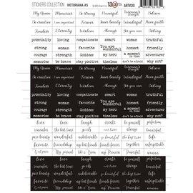 13 Arts Victoriana Stickervel 144 woordjes