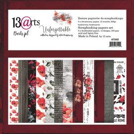 13 Arts Unforgetable , 6 dubbelzijdige sheets, 12 designs