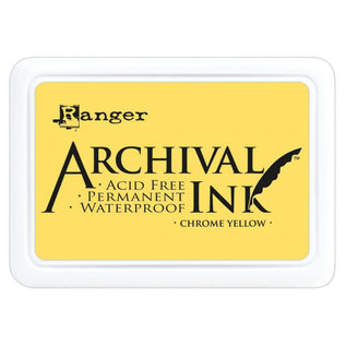 Ranger Archival ink pad chrome yellow