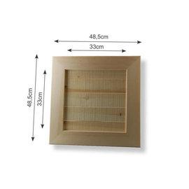 Vaessen Wandpaneel hout binnenm.33x33 cm