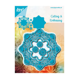Joy! crafts Joy!Crafts snij- embosstencil fantastic cirkel bloemen