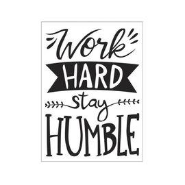 Darice • Embossing folder work hard stay humble