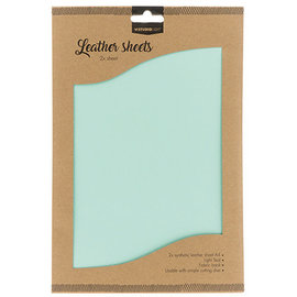 Studio Light Faux Leather Sheets 2x A4  Light Teal