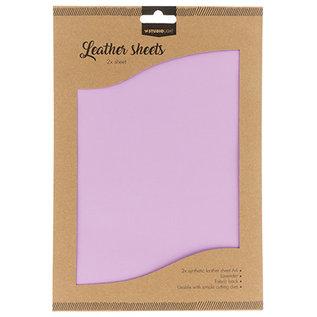 Studio Light Faux Leather Sheets 2x A4 Lavender