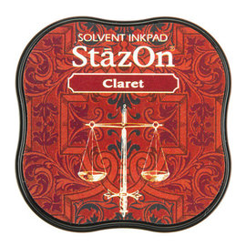 Tsukineko StazOn midi solvent dye ink 5,8x5,8cm   Claret