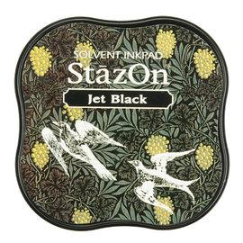 Tsukineko StazOn midi solvent dye ink 5,8x5,8cm   Jet Black