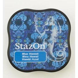 Tsukineko StazOn midi solvent dye ink 5,8x5,8cm  Blue Hawaï