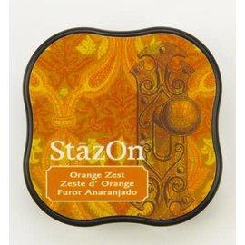 Tsukineko StazOn midi solvent dye ink 5,8x5,8cm  Orange Zest