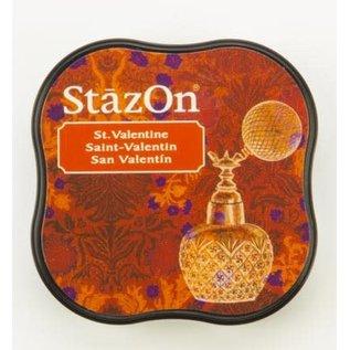 Tsukineko StazOn midi solvent dye ink 5,8x5,8cm  St Valentine