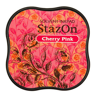 Tsukineko StazOn midi solvent dye ink 5,8x5,8cm  Cherry Pink