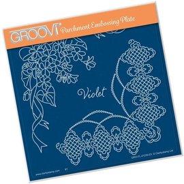 Groovi Groovi Violet A5 Square Plate 148mm x 148mm Groovi Pla