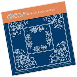 Groovi Tina's Wild Flowers Parchlet A6 Square Plate