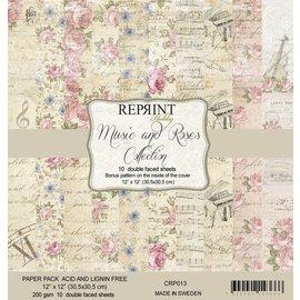 Reprint Reprint Music & Roses 12x12 Inch