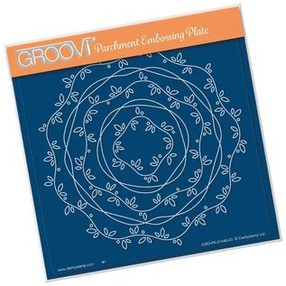 Groovi NESTED BORDER FRAME - VINES AND RIBBON A5 SQUARE GROOVI PLATE