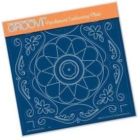 Groovi Groovi Plate A5 TINA'S EMBROIDERY FLOWERS