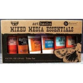 Tim Holtz Finnabair Art Basics Mixed Media Essentials 2 Ounces 6/Pkg Heavy Gessos, Pastes & Gels