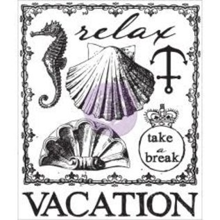 "PRIMA MARKETING Prima Marketing Seashore + Vacation Clear Stamps 2.5""X3"" (2st)"