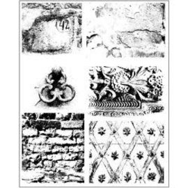 "PRIMA MARKETING Copy of Finnabair Cling Stamps 6""X7.5"" Old Town"