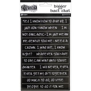 Ranger Dyan Reaveley's Dylusions Bigger Back Chat Stickers