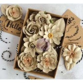 "PRIMA MARKETING Mulberry Paper Flowers Sandstone W/Tags, 1.25""-2.5"","