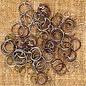PRIMA MARKETING Metal Vintage Trinkets Jump Rings Assorted Sizes, 100/Pkg