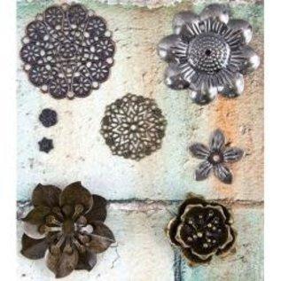 PRIMA MARKETING Finnabair - Metal Embellishments Flowers