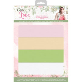 Crafters Companion Garden of Love - A4 Luxe Linnenkarton 4x6 st