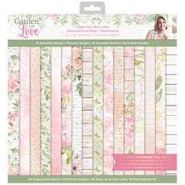 Crafters Companion Garden of Love - 15x15 cm Paperpad