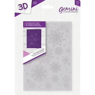 Gemini Gemini  3D Embossing Folder - Shimmering Snowflakes