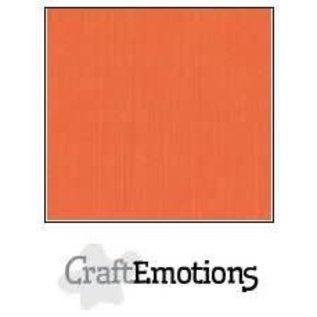 CraftEmotions CraftEmotions linnenkarton ORANJE  30,0x30,0cm