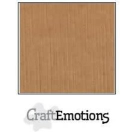 CraftEmotions CraftEmotions linnenkarton MOKKA  30,0x30,0cm