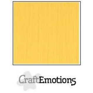 CraftEmotions CraftEmotions linnenkarton GOUDGEEL  30,0x30,0cm