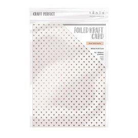Studio Light Tonic Studios Craft P. Foiled K.Card - Rose Gold Hearts 1st