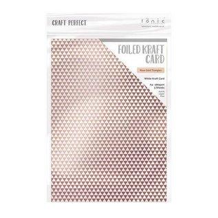 Tonic Studios Tonic Studios Craft P. Foiled K.Card - Rose Gold Triangles  1st