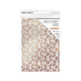 Tonic Studios Tonic Studios Craft P. Foiled K.Card - Rose Gold Posies 1st