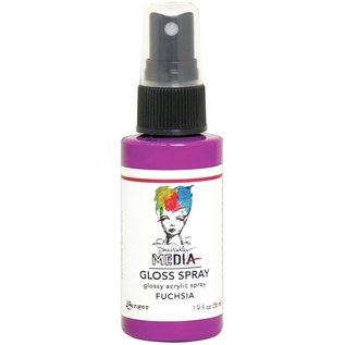 Ranger Dina Wakley Media Gloss Sprays 2oz FUCHSIA