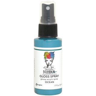 Ranger Dina Wakley Media Gloss Sprays 2oz  OCEAN
