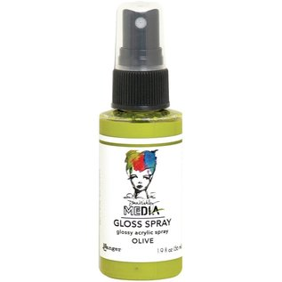 Ranger Dina Wakley Media Gloss Sprays 2oz  OLIVE
