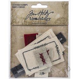 Tim Holtz Idea-Ology Stitched Scraps 14/Pkg