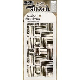 "Tim Holtz Tim Holtz Layered Stencil 4.125""X8.5""    Tached"