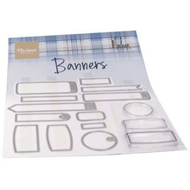 Marianne Design • Clear stamps banners by Marleen