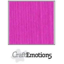 CraftEmotions CraftEmotions linnenkarton 10 vel Koraalmagenta 30,0x30,0cm