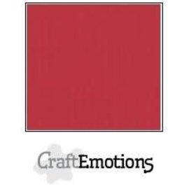 CraftEmotions CraftEmotions linnenkarton 1 vel kersen rood 30,0x30,0cm