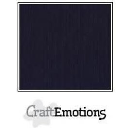 CraftEmotions CraftEmotions linnenkarton 1 vel zwart 30,0x30,0cm