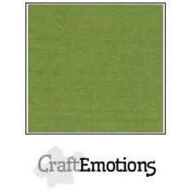CraftEmotions CraftEmotions linnenkarton 10 vel mosgroen 30,0x30,0cm