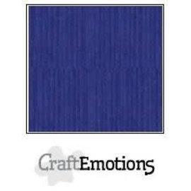 CraftEmotions CraftEmotions linnenkarton 10 vel saffierblauw 30,0x30,0cm